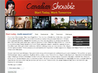web design Canadian Showbiz - still in development