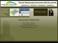web design Greatlands Toronto Home Builder- Toronto Web design