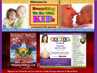 web design Everythingtodowithkids - Toronto Web designer
